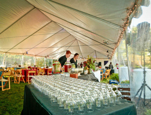 Large Scale Tenting for 150 guests can make an outdoor event comfortable – whether it's keeping the sun or the rain out!